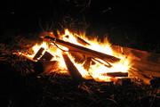 Feuer am Strand Las Marinas / Denia