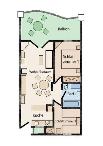 Der Grundriss der Wohnung Denia Blau Park Apartamento No. 29