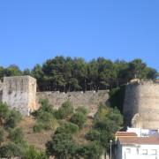Blick auf die Burg von Denia